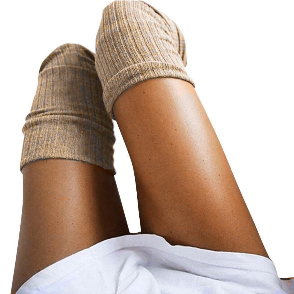 Socken OHQ Oberschenkel hoch über dem Knie Socken lange Baumwolle Strümpfe warm für Mädchen Damen Frauen