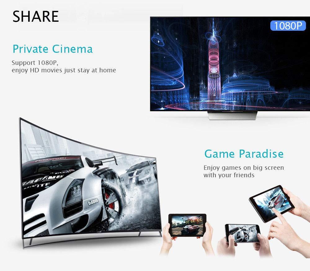 1080P Digital Dongle WiFi Wireless HDMI Screen Mirroring Adapter ...
