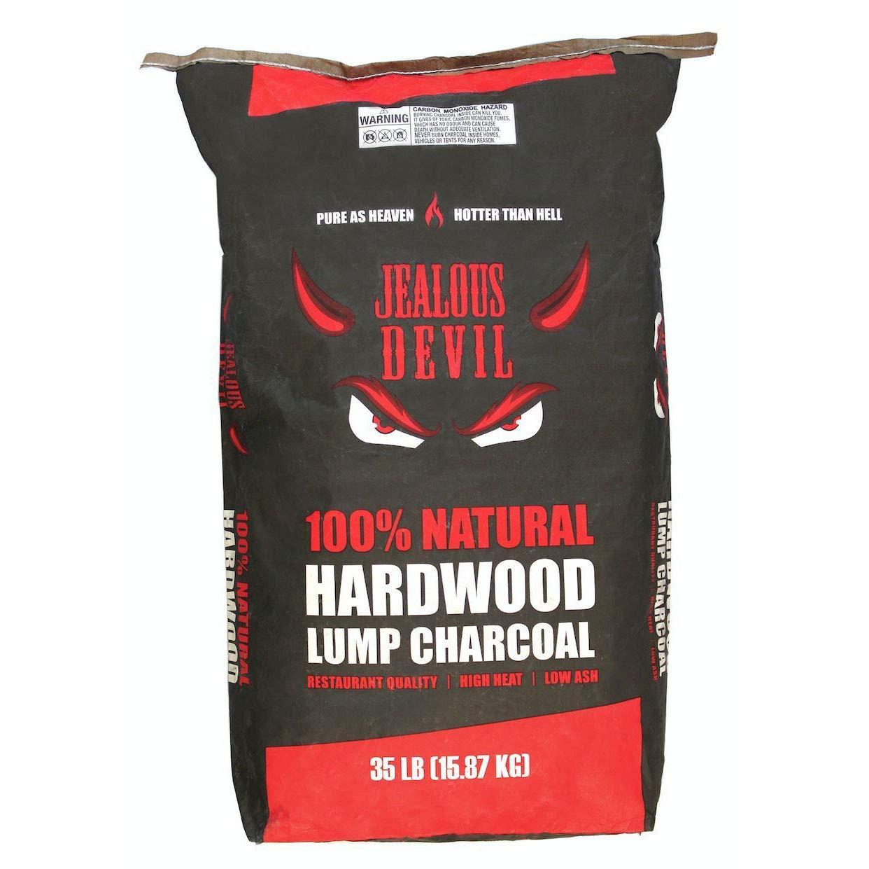 Jealous Devil 100 Percent Natural Hardwood Wood Lump Grill Charcoal, 35 Pounds (45 Bag Pallet)