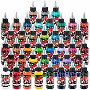 Millennium mom 39 s tattoo ink 41 color set 1 for Cheap tattoo kits amazon
