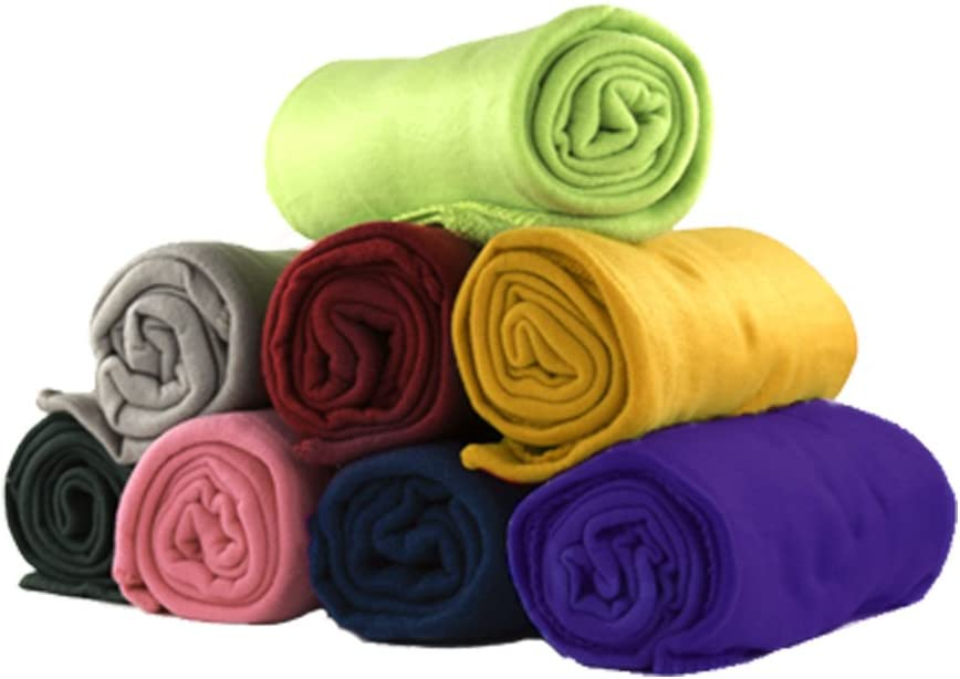 50 x 60 Inch Soft Wholesale Fleece Blankets 12 Pack Assorted Fleece Throw Lot