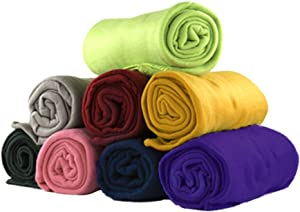 """Imperial Home 12 Pack Wholesale Soft Comfy Fleece Blankets - 60"""" x 50"""" Cozy Throw Blankets (Assortment)"""