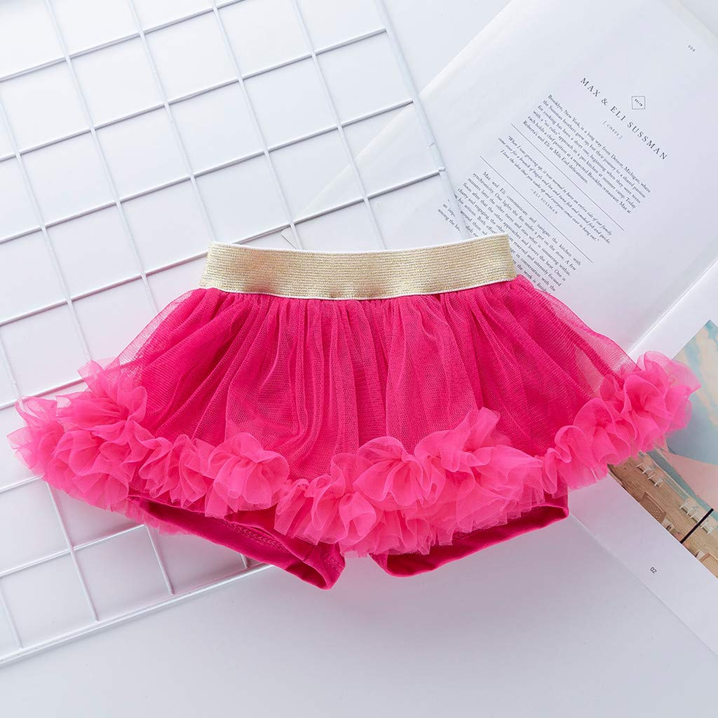 Topgrowth Gonna Bambina Balletti Danza Tutu Gonne Multistrato Ruffle Frilly Petticoat Swing Principessa Bubble Gonna Bimba Festa Costume Neonata 3-18 Mesi