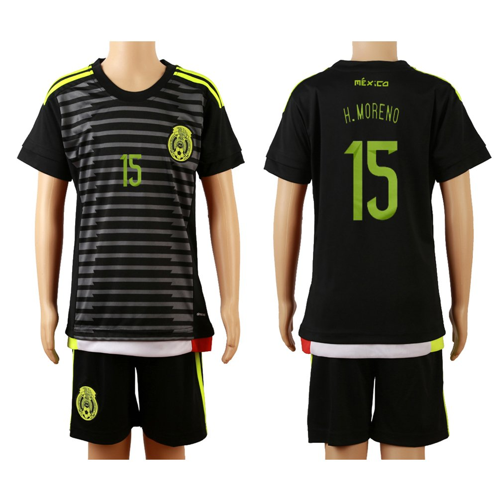 329b226665f 2015 16 Mexico Black (Home)  15 Hector Moreno Football Soccer Kids Jersey    Shorts Misc.