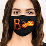3pc Adult Face_Mask Washable and Reusable, Face Mouth Bandanas Scarf with Halloween Printed and Adjustable Ear Bands