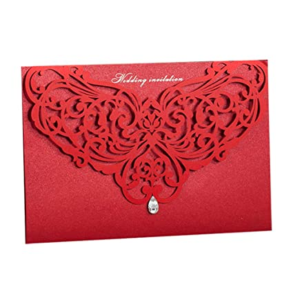 Amazon 100x Wishmade Chinese Style Red Laser Cut Invites