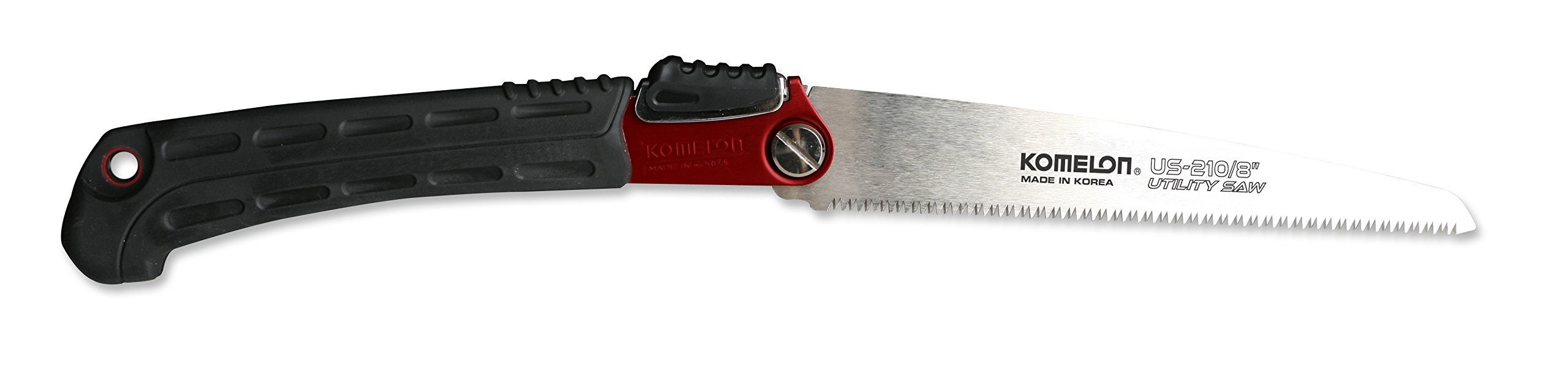 Komelon US-210 Utility Folding Saw, 8'', Red Aluminum
