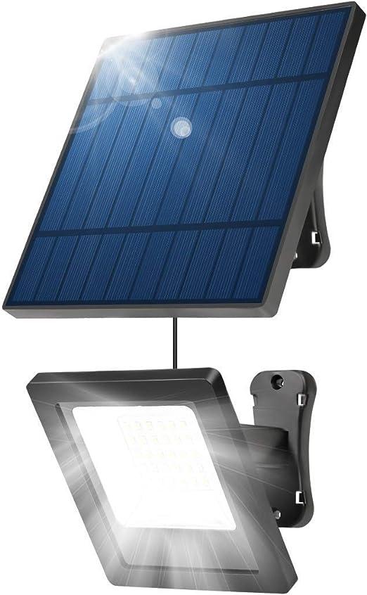 XIBALI Foco Solar Led Exterior,Luces Solares Jardín,Luz Solar 30 LED 6500K Brillante IP66 Impermeable,Batería 640mAh,Lámpara Solar para Patios Terrazas: Amazon.es: Hogar