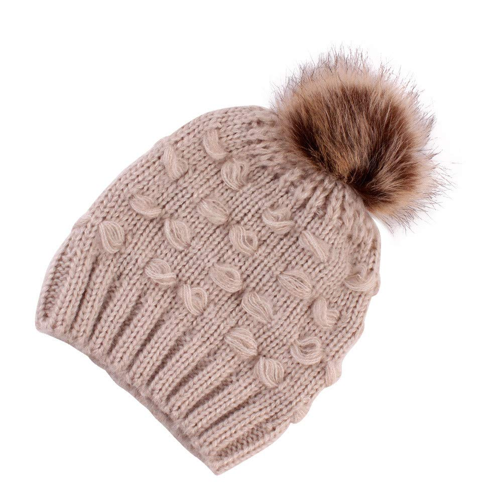 Hats for Kids,Winter Warm Chunky Thick Stretchy Knit Cap Cute Baby Beanie Skull Hat Xmas Gifts for Boys Girls