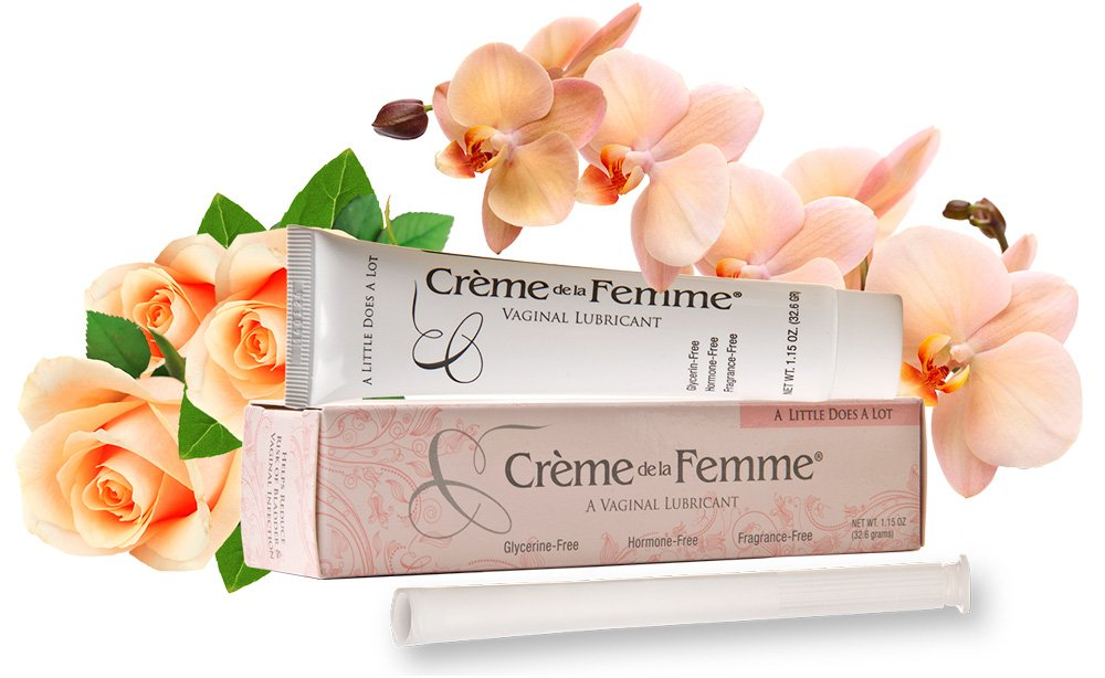 Crème De La Femme 1-Pack, Vaginal Dryness Cream Created by a Woman Doctor, Natural Menopause Dryness Remedy, Lubricant No Yeast Infection, Free Applicator Included by Creme de la Femme