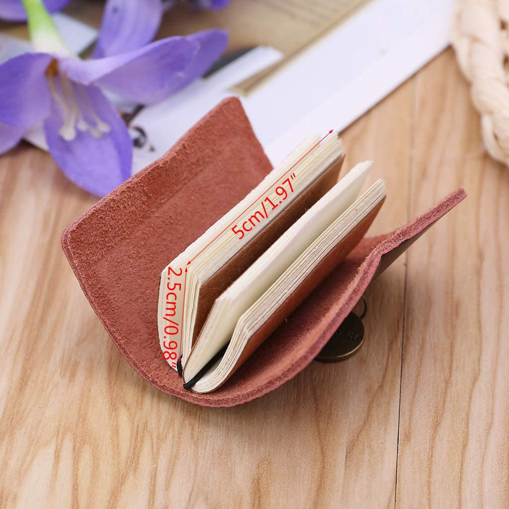 GUANGSHAN Mini Vintage Notebook Leather Cover Journal Note Book Notepad Traveler Journey Portable Daily School Office Supply