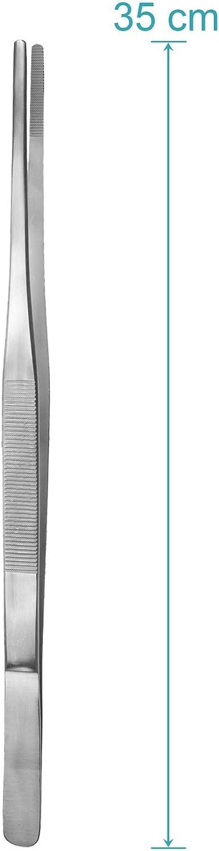 Droite Acier inoxydable May- Pince /à /épiler universelle 35 cm Int/érieur arrondi Pointe ronde