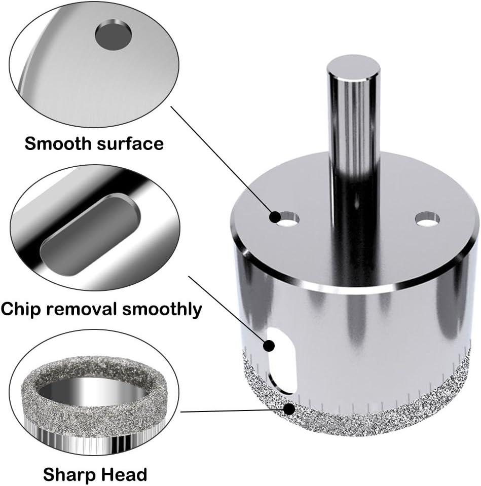 De 6 /à 50/mm porcelaine Lot de 16/forets diamant pour verre c/éramique granit et pierre Afunta