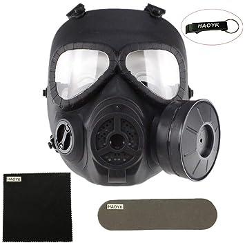 haoYk táctico Dummy anti niebla máscara de gas M04 con Turbo ...