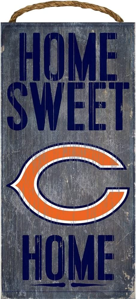 """Chicago Bears Home Sweet Home Wood Sign 12""""x6"""""""