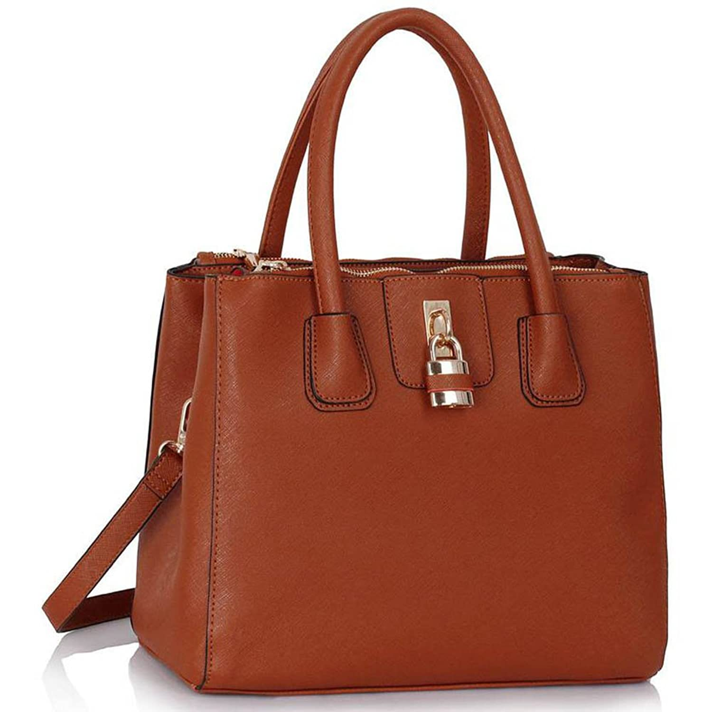 Womens Designer Handbags Ladies New Fashion Faux Leather Shoulder ...