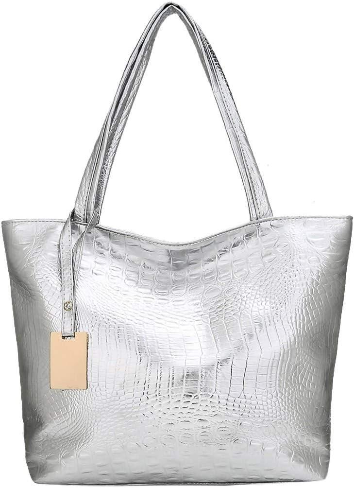 DDKK Crossbody Bags for Women,Crocodile leather Solid Large Capacity Shoulder Tote Handbag Bags Business Office Work Bag Briefcase Large Travel