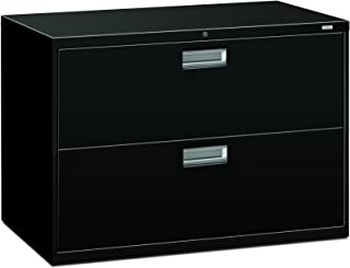 product image for HON 2-Drawer Filing Cabinet - 600 Series Lateral or Legal File Cabinet, 42w by 19-1/4d, Black (H692)