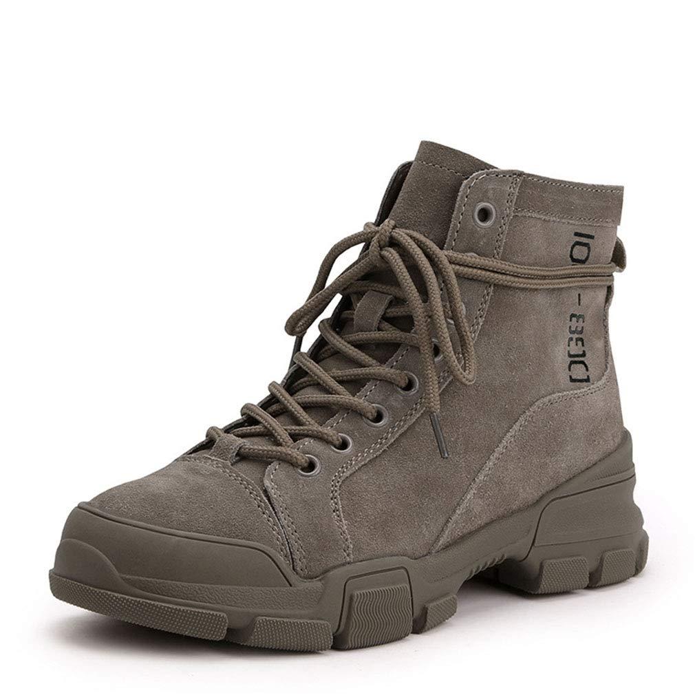 YAN Frauen Kurze Stiefel Wildleder Herbst Winter Martin Stiefel Mode Rutschfeste britische Schuhe Outdoor Casual Wanderschuhe