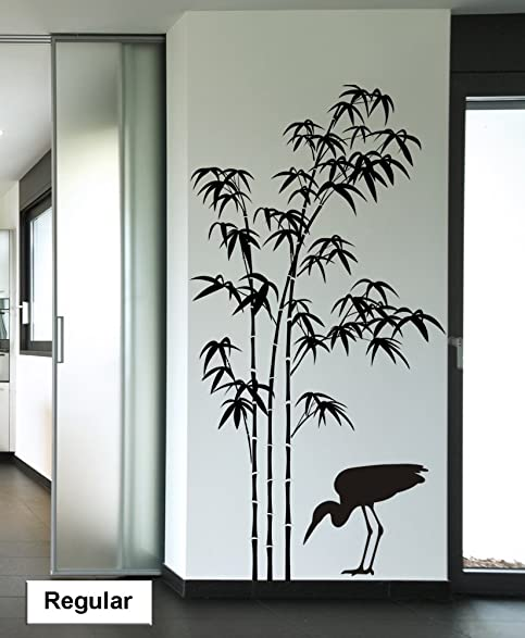 Bamboo Tree Wall Decal Large Sticker Bird Decals Removable Vinyl Stickers  Living Room Bedroom Office Kitchen