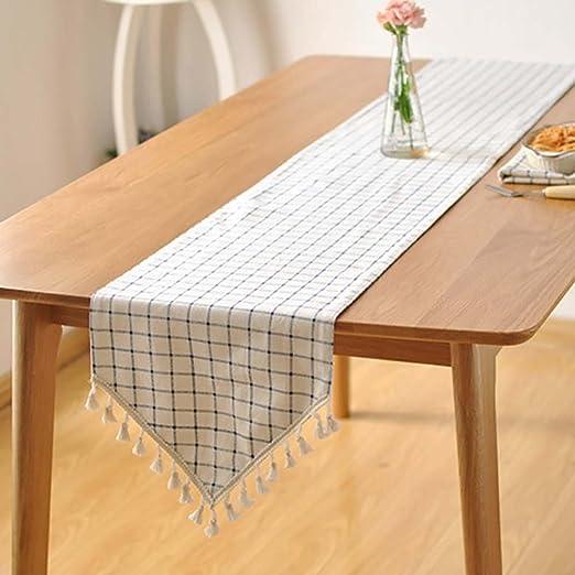 camino de mesa Fresco y simple moderno nórdico de tela blanco ...
