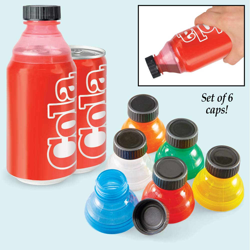 Fresh Top Caps Easy Snap-On Reusable Can Lid Covers, Set of 6 - Great for Soda, Sparkling Water, Beer by Collections Etc (Image #2)