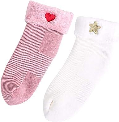 DEBAIJIA Bebé Espesar Calcetines de Algodón Recién Nacido ...