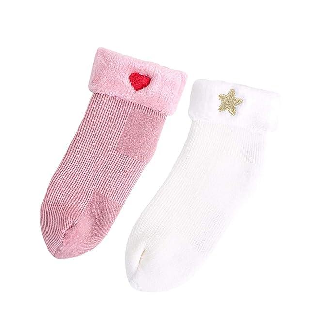 DEBAIJIA Bebé Espesar Calcetines de Algodón Recién Nacido Calcetines ...