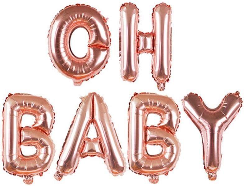 Decoración De Papel Fiestaes Un Niño/Niña Decoración De Fiesta De Cumpleaños Juego De Bricolaje Pezón Biberón Pies Carta Globo Bandera Del Empavesado, Oh Bebé