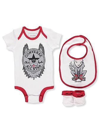 41093af768dd Amazon.com  Converse Baby Boys  3-Piece Layette Set - Wolf Gray
