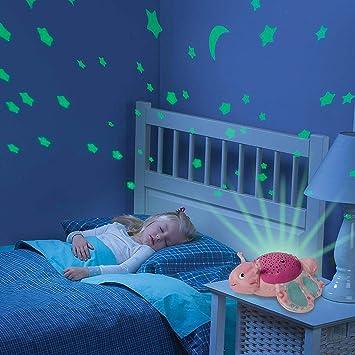 Chigant Juguete de Felpa 2-in-1 Proyector Lámpara Nocturno de ...