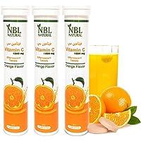 NBL NATURAL Vitamin C 1000 Mg Orange Flavor 20 Effervescent Tablets, 3 Pack