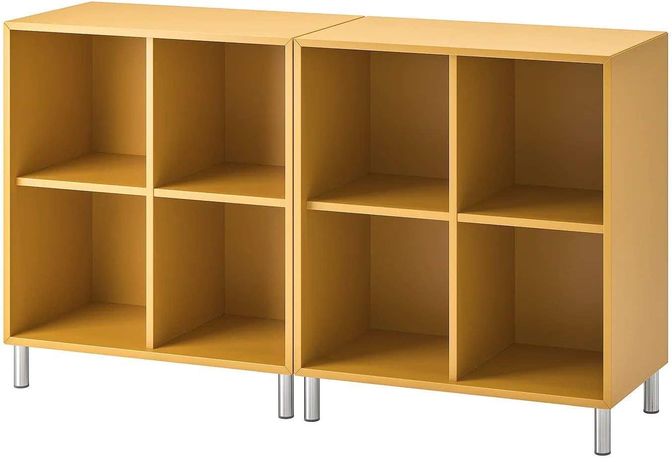 IK IKEA EKET Librería, Mueble salón con Patas, Ocre marrón ...
