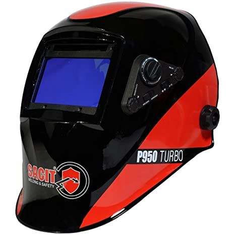 Pasamontañas de soldadura Sacit P950 Turbo DIN 4/5 – 8/9 – 13