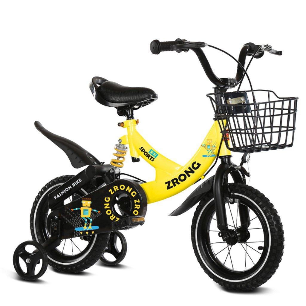 キッズ自転車2-10歳のベビーペダル自転車12/14/16インチの男の子と女の子ベビーキャリッジイエロー100kg (サイズ さいず : 16inch) B07F2LPSDV16inch