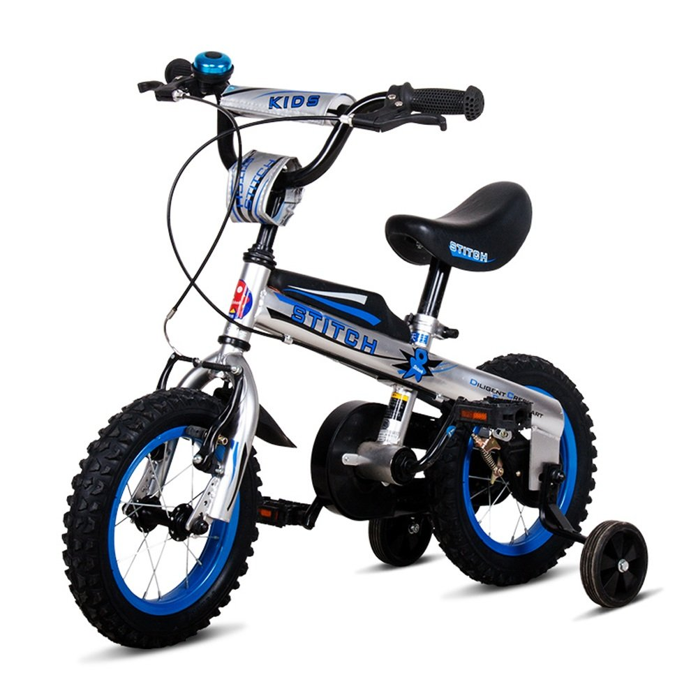 Bicyclehx Botones para Bebés Estilo Libre BMX Bicicletas para Niños con Ruedas de Entrenamiento Acero al Carbono ensamblado Seguridad Bicicleta para Niños en Tamaño 12,14,16 Pulgadas