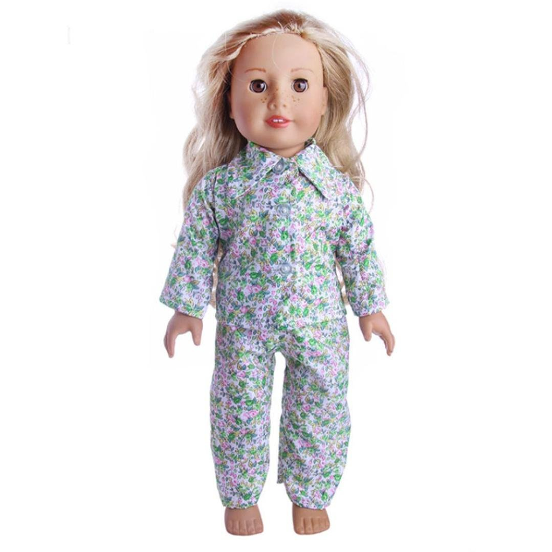 WensLTD Clearance! Cute Soft Robe Dolls Robe Fit for 18 inch Our Generation American Girl Doll