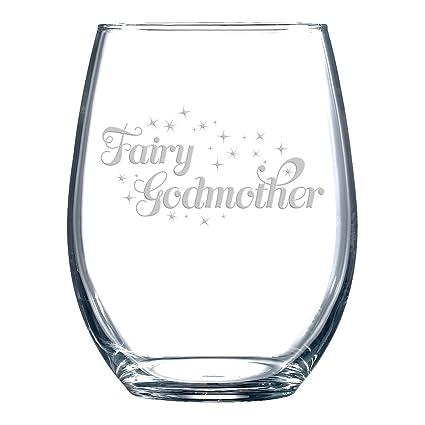 f249088d8ff Amazon.com   Fairy Godmother - Stemless Wine Glass: Wine Glasses