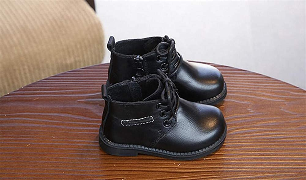 unyielding1 Martin Kid Toddler Leather Boots Ankle Arch Support Combat Boots