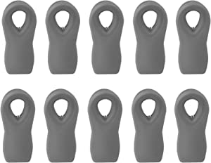 Cook with Color 10 Pc Bag Clips with Magnet, Food Clips, Chip Clips, Bag Clips for Food Storage with Air Tight Seal Grip for Bread Bags, Snack Bags and Food Bags (Grey)