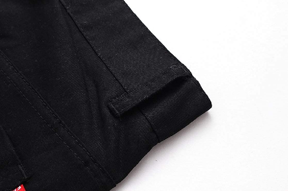 Comaba Mens Solid Plus Size Outdoor Spring Summer Cargo Pants