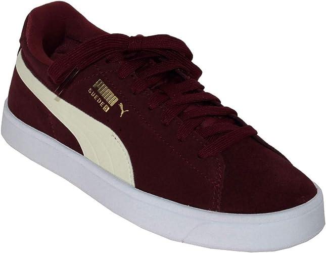 chaussure puma suede bordeau