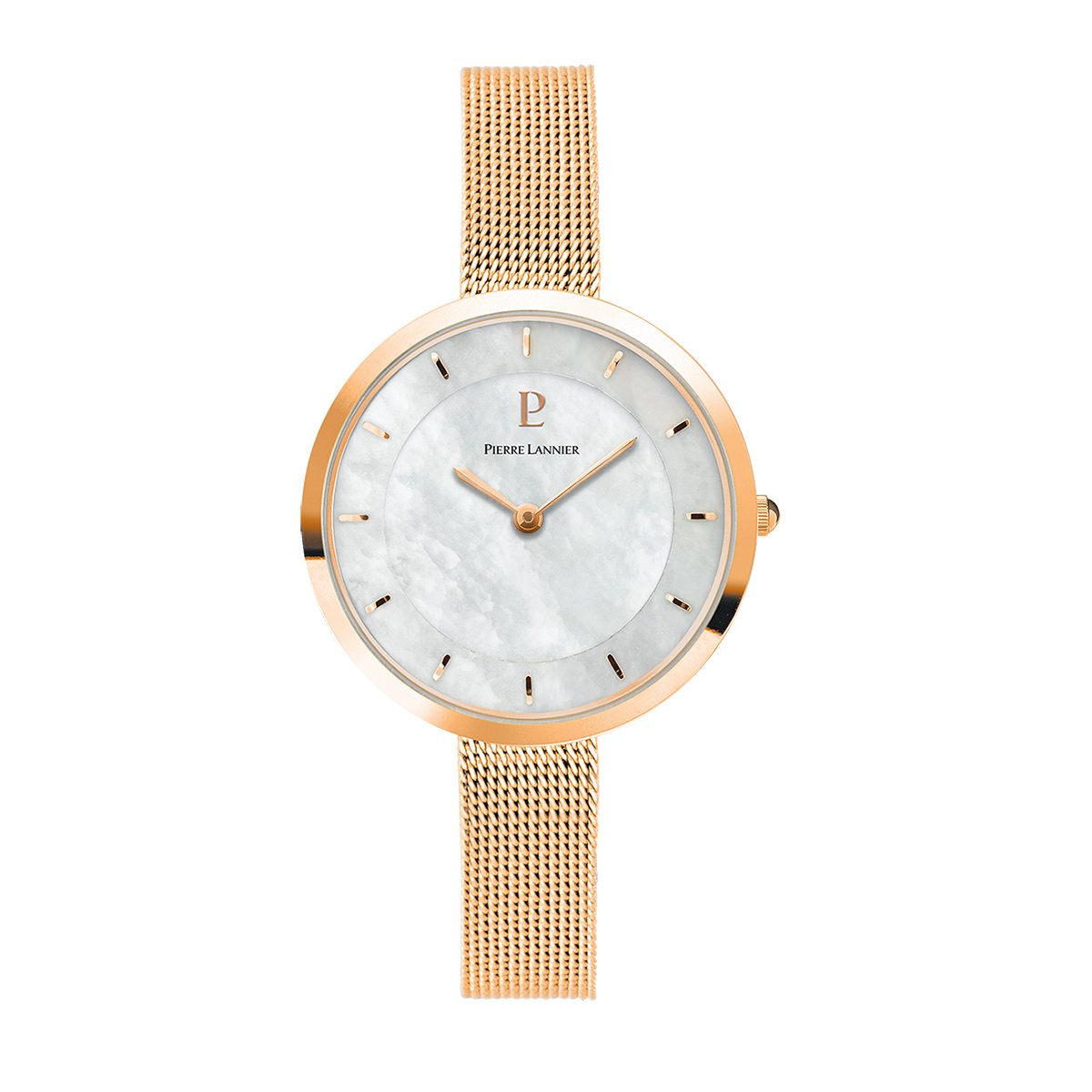 Women's Watch Pierre Lannier - 076G998 - ELEGANCE STYLE - Rose Gold - Milanese Band by Pierre Lannier