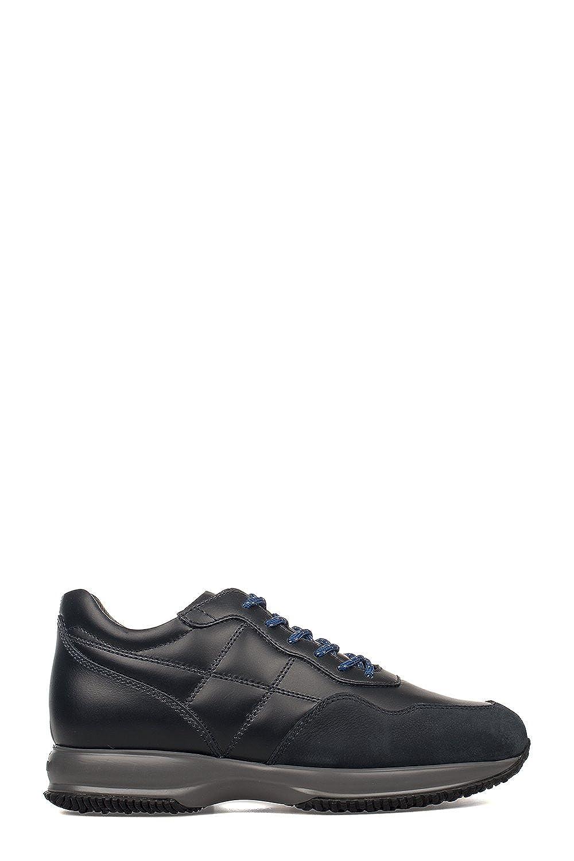 Hogan メンズ HXM00N0J590C8K1001 ブラック 革 運動靴 B07DMPT93X
