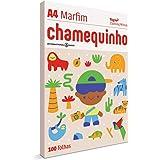 Chamequinho Papel A4, 210 x 297 mm, 100 Folhas, cor Marfim
