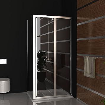 Cristal Mampara de ducha 100 x 80 x190 cm antical revestimiento Puerta plegable ducha cabina con marco ducha completo incluye los arañazos de vidrio Mampara ducha pared plegable: Amazon.es: Bricolaje y herramientas