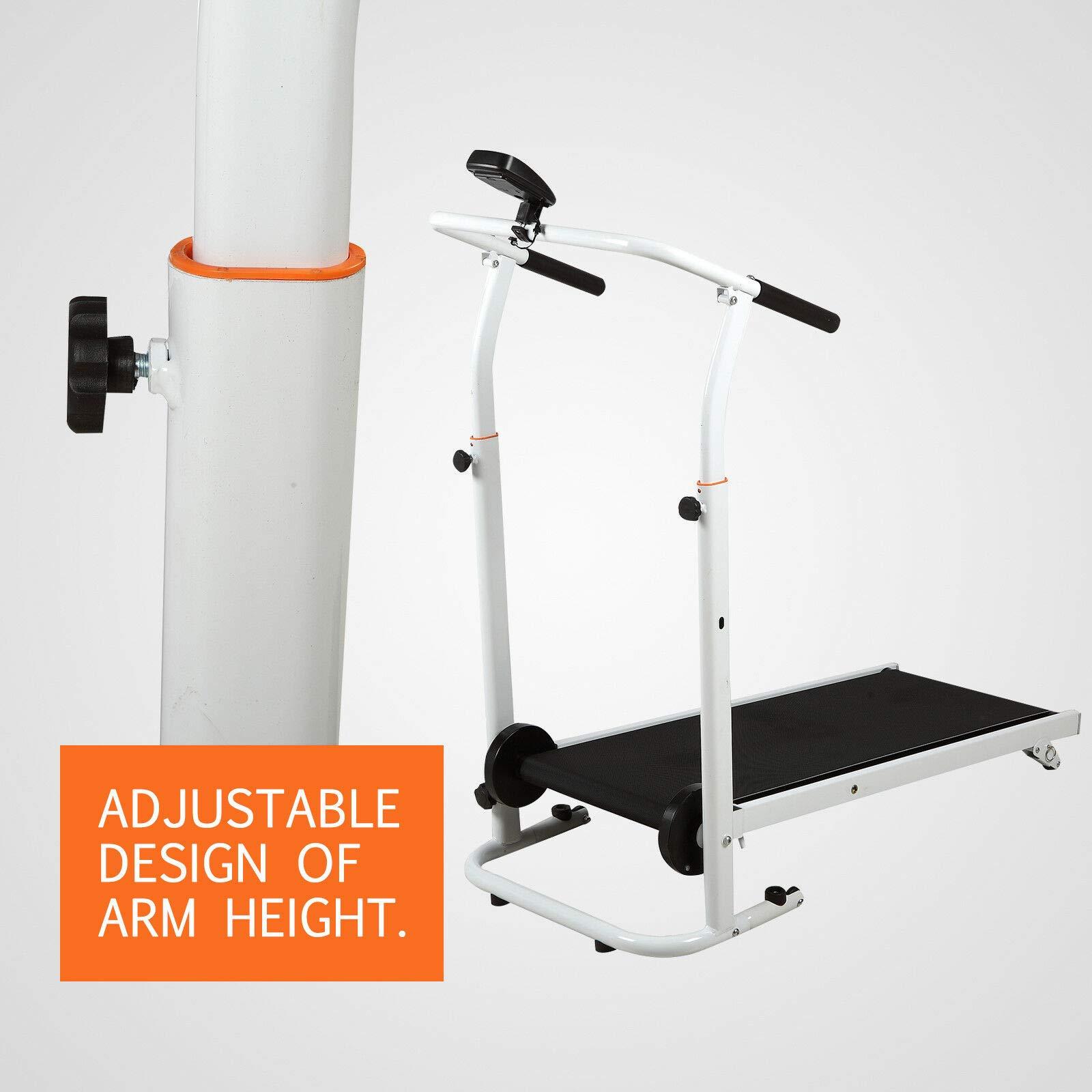 HappyShopShop Folding Adjustable Manual Treadmill Run Running Walk Walking Machine Cardio Exercise by HappyShopShop (Image #5)