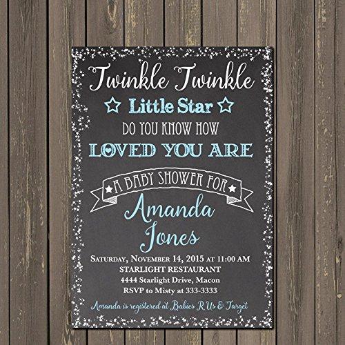 Amazoncom Twinkle Twinkle Little Star Baby Shower Invitation