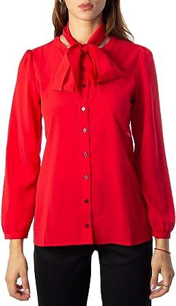 Emme Marella Camisas de Manga Larga Mujer XX-Small Rojo: Amazon.es: Ropa y accesorios