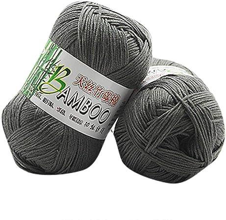 Winkey Ovillo de hilo, 100 % de algodón cálido de bambú natural, para ganchillo. Ovillo de 50 g, para mantas o jerséis Y: Amazon.es: Hogar
